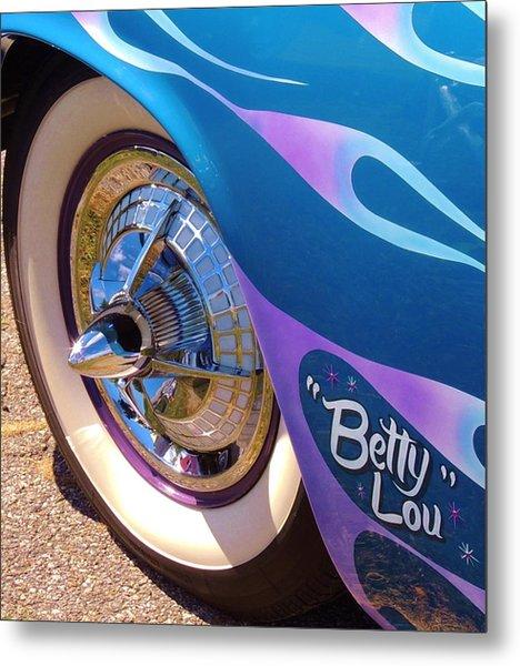 Classic Car Betty Lou Metal Print