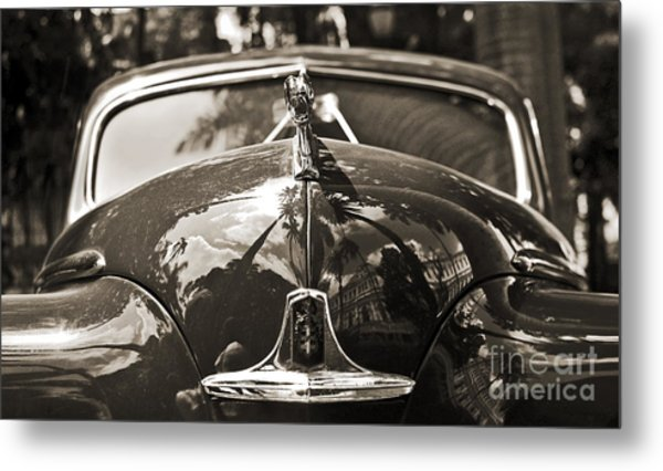 Classic Car Detail - Dodge 1948 Metal Print