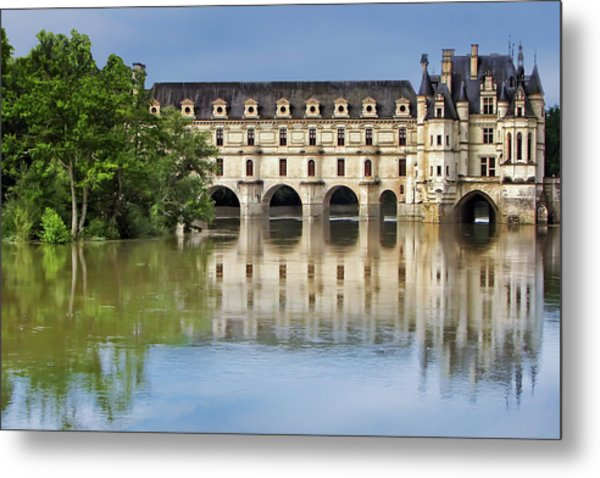 Classic Chenonceau Metal Print
