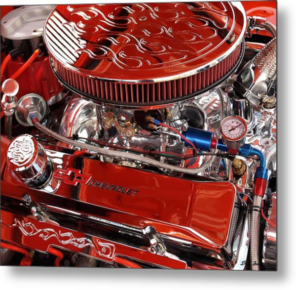 Classic Chevrolet Engine Metal Print by Dennis Stein