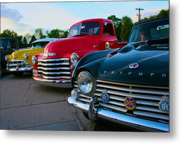 Classic Chrome Bumpers Metal Print