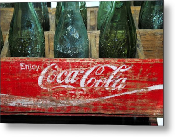 Classic Coke Metal Print