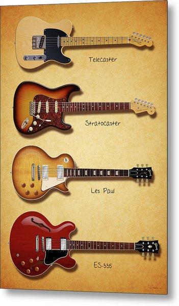 Classic Electric Guitars Metal Print