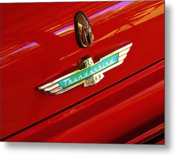 Classic Ford Thunderbird Emblem Metal Print