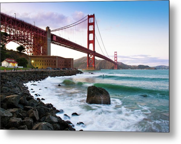 Classic Golden Gate Bridge Metal Print