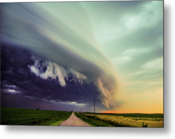 Classic Nebraska Shelf Cloud 024 Metal Print