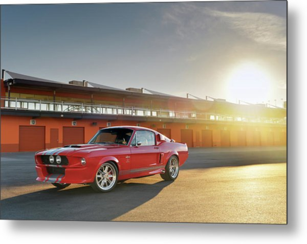 Classic Recreations Shelby Gt500cr Metal Print by Drew Phillips