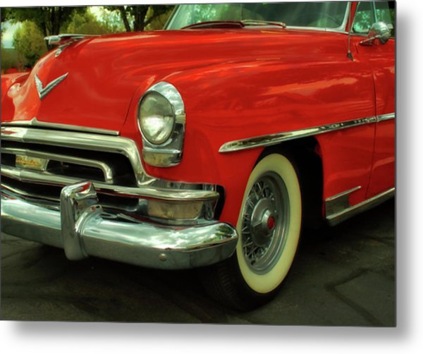 Classic Red Chrysler Metal Print