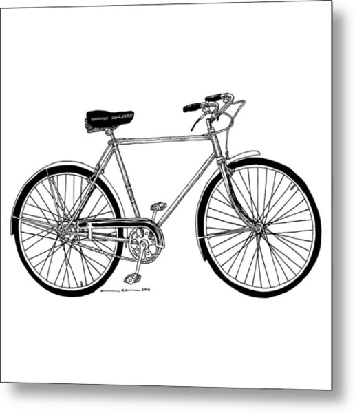 Classic Road Bicycle  Metal Print by Karl Addison