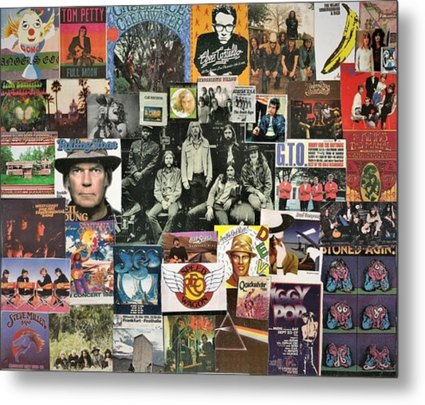 Classic Rock Collage Featuring The Allman Brothers Metal Print