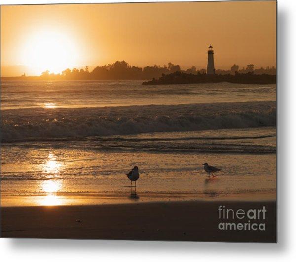 Classic Santa Cruz Sunset Metal Print