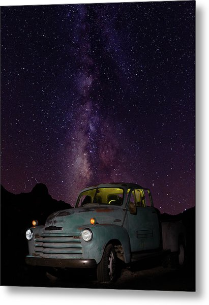 Classic Truck Under The Milky Way Metal Print