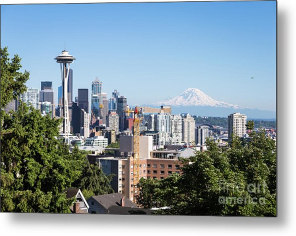 Classic View Of Seattle, Usa Metal Print