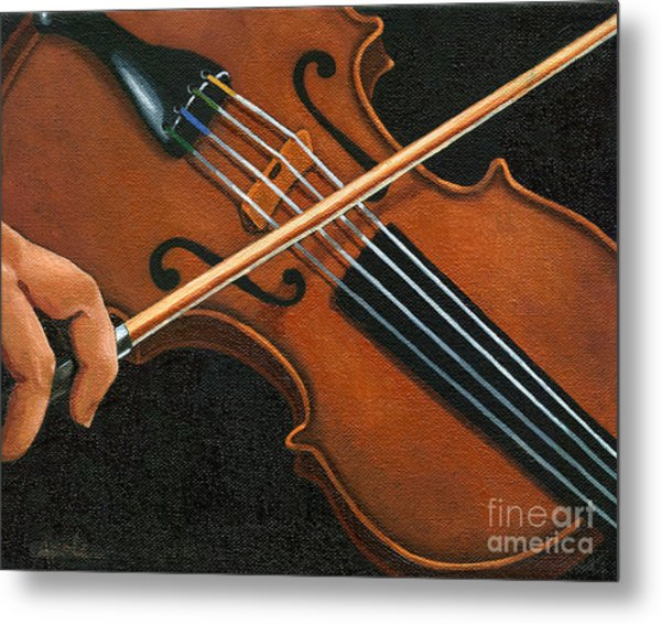 Classic Violin Metal Print by Linda Apple