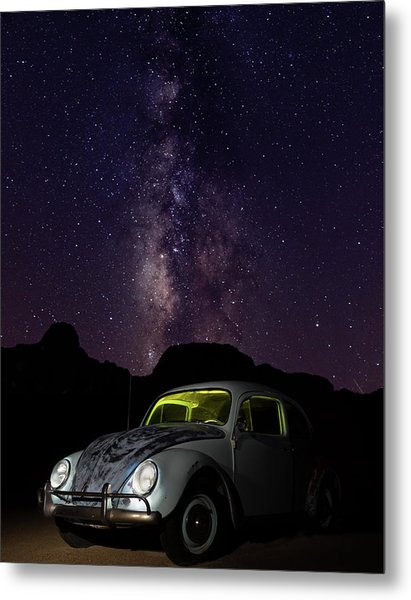 Classic Vw Bug Under The Milky Way Metal Print