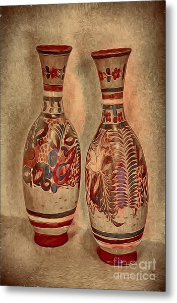 Clay  Pottery  ... Metal Print