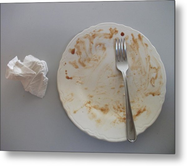 Clean Your Plate Metal Print by Joshua Sunday