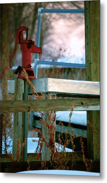 Cleaning Station Pump Metal Print by Jame Hayes