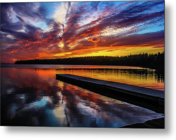 Clear Lake At Sunset. Riding Mountain National Park, Manitoba, Canada. Metal Print