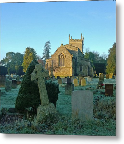 Clear Light In The Graveyard Metal Print
