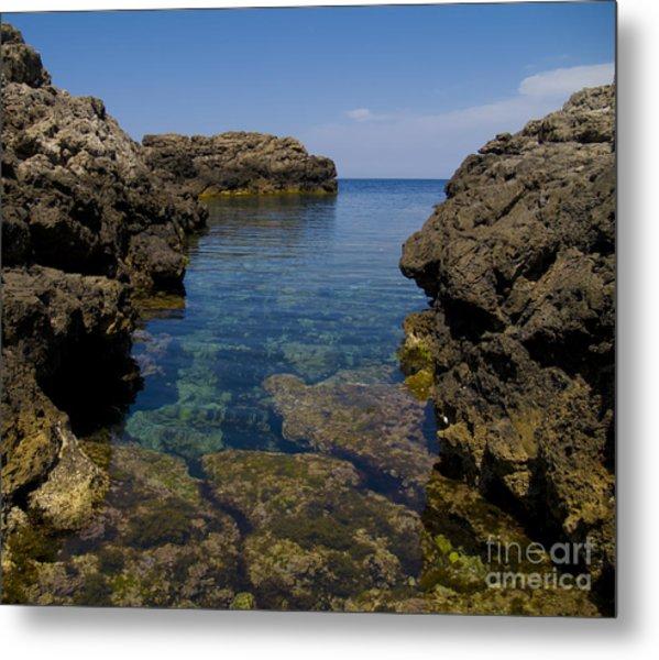 Clear Water Of Mallorca Metal Print