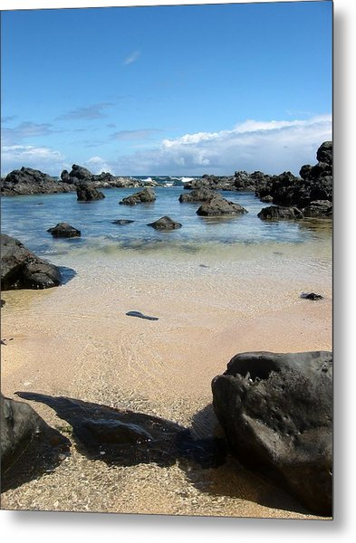 Clear Water Shore Metal Print by Halle Treanor
