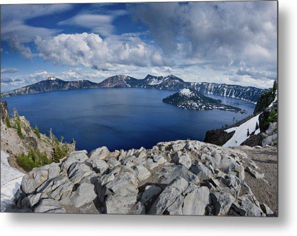 Clearing Storm At Crater Lake Metal Print