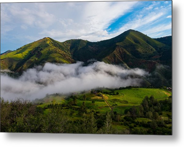 Clearing Storm, Figueroa Mountain Metal Print