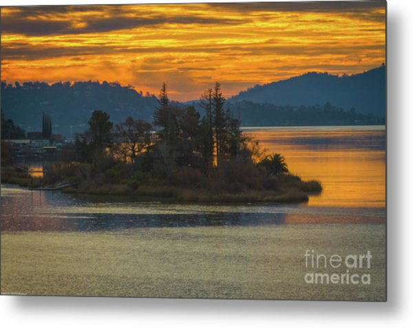 Clearlake Gold Metal Print