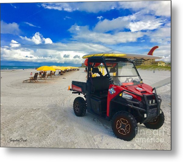 Clearwater Beach Lifeguard Atv Metal Print