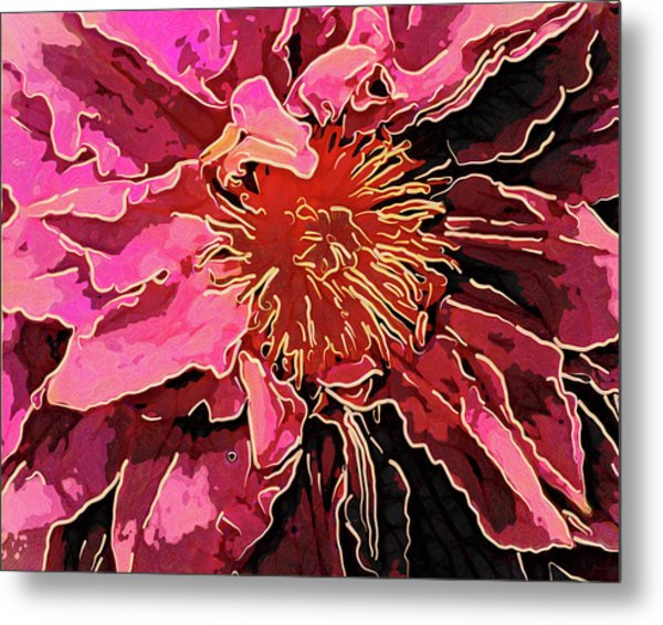 Clematis Up Close And Personal Metal Print