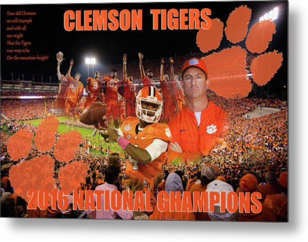 Clemson National Champs Metal Print