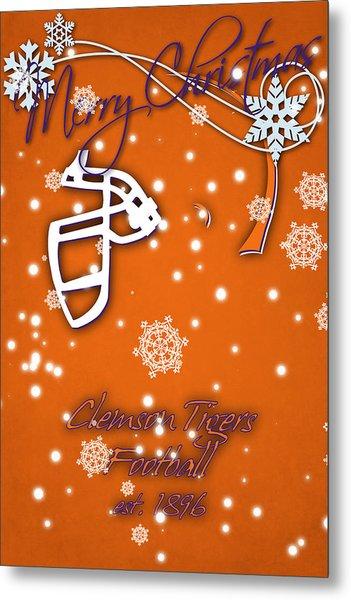 Clemson Tigers Christmas Card Metal Print