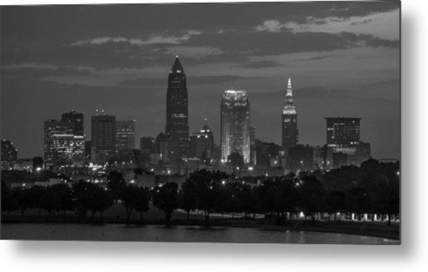 Cleveland After Dark Metal Print