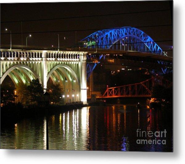 Cleveland Bridge Series 7 Metal Print by Donna Stewart