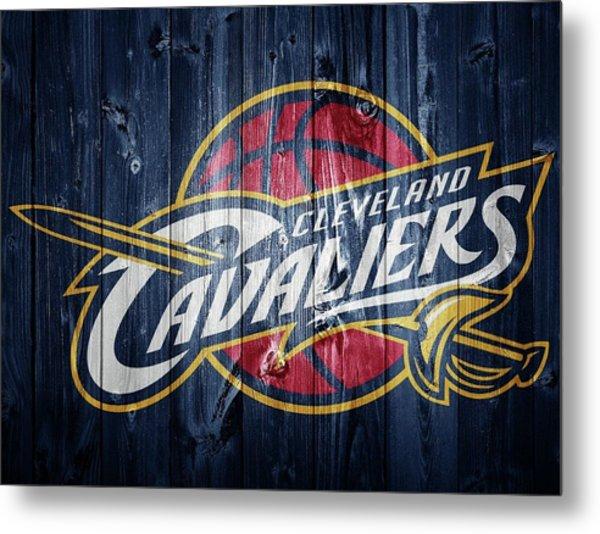 Cleveland Cavaliers Barn Door Metal Print