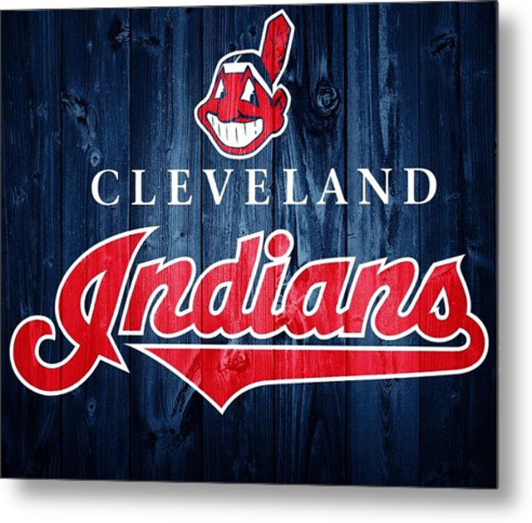 Cleveland Indians Barn Door Metal Print
