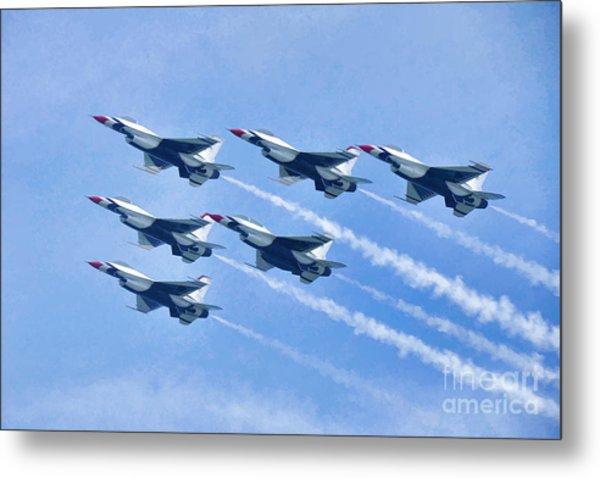 Cleveland National Air Show - Air Force Thunderbirds - 1 Metal Print