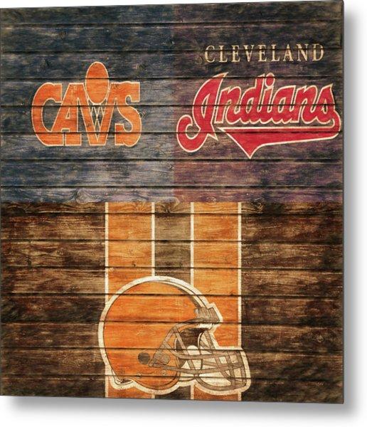 Cleveland Sports Teams Barn Door Metal Print