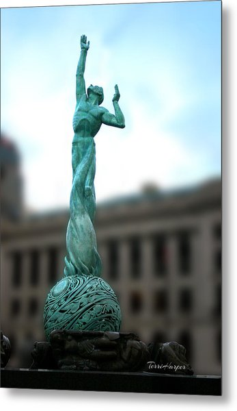 Cleveland War Memorial Fountain Metal Print