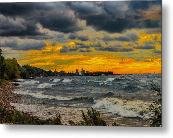 Cleveland Waves Metal Print