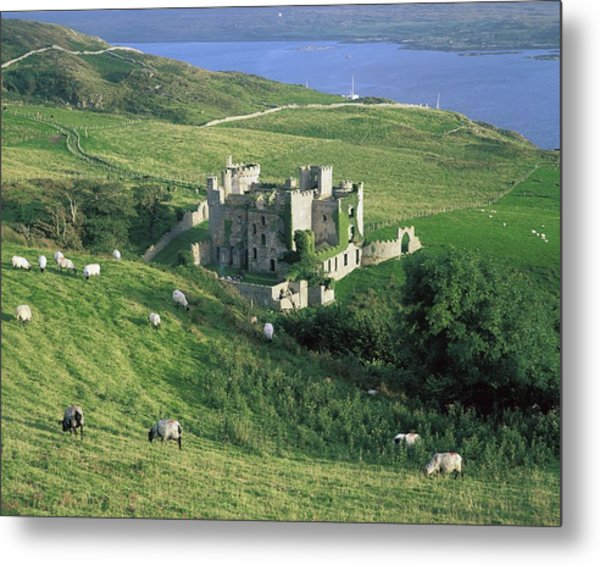 Clifden Castle, Co Galway, Ireland 19th Metal Print