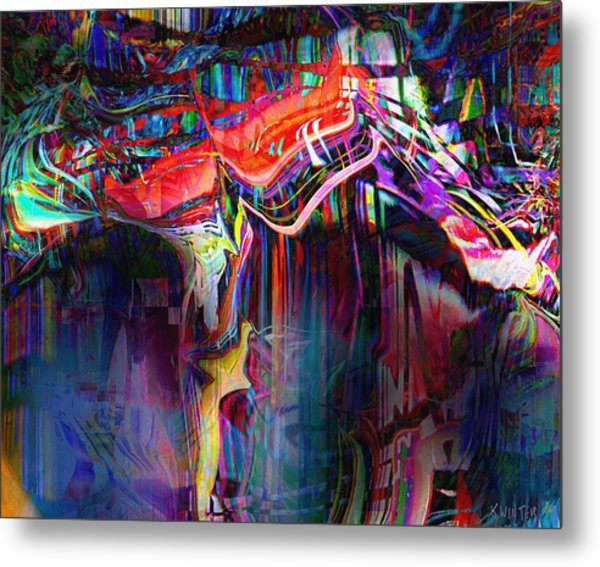 Cliff Metal Print by Dave Kwinter