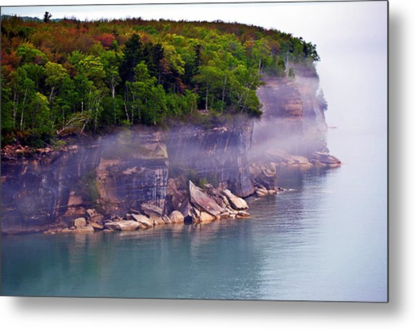 Cliff Fog Metal Print