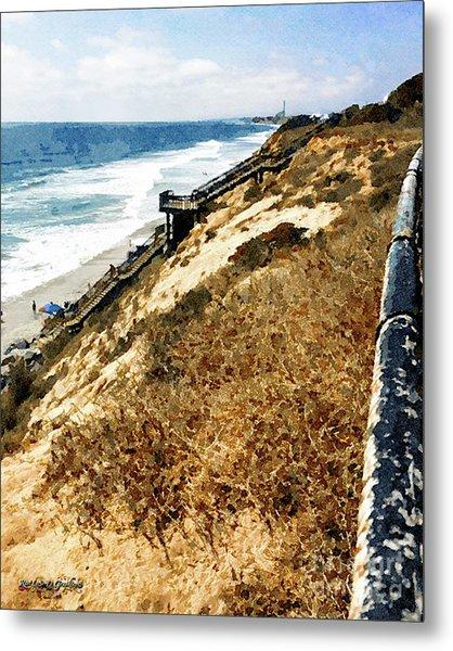 Cliff View - Carlsbad Ponto Beach Metal Print