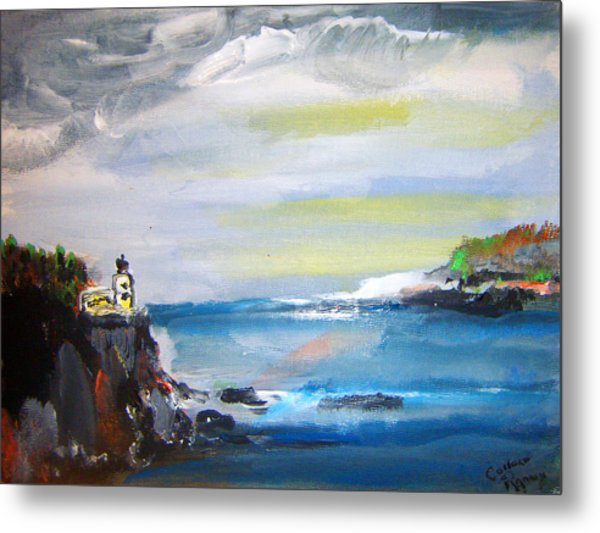 Cliffs By Colleen Ranney Metal Print