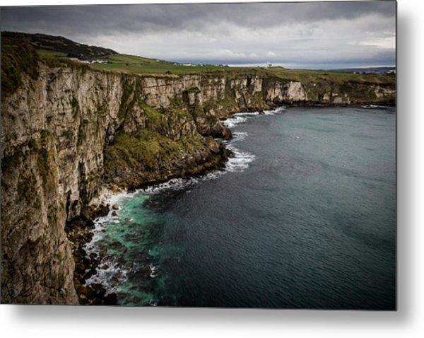 Cliffs Near Larrybane Metal Print
