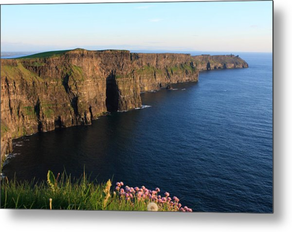 Cliffs Of Moher In Evening Light Metal Print