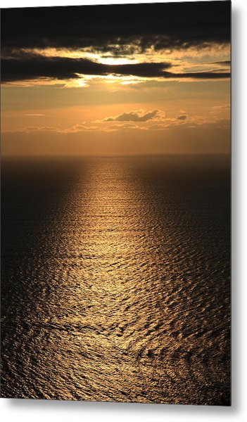 Cliffs Of Moher Sunset Co. Clare Ireland Metal Print by Pierre Leclerc Photography