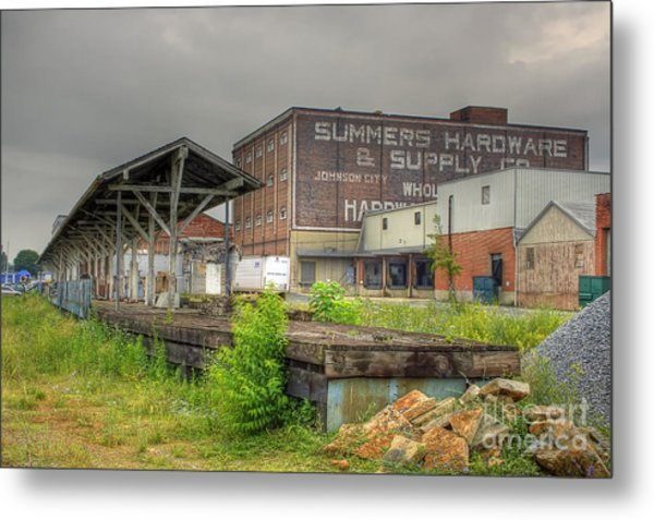 Clinchfield Train Station Platform Metal Print